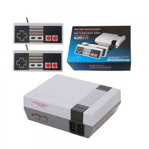 Consola cu 620 de jocuri retro incorporate si 2 controlere
