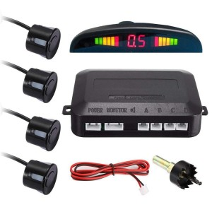 Senzori de parcare spate cu ecran LCD, LED-uri si avertizare sonora